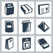 Vector isolated package icons set 2 — Stock Vector