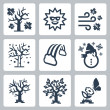 Vector four seasons icons set — Stock Vector