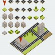Vector isometric map kit — Stockvektor
