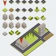 Vector isometric map kit — Stock Vector