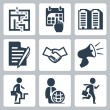 Vector business concept icons set — Stock vektor