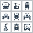 Vector transportation icons set — Stock Vector