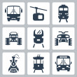 Vector transportation icons set — Stock Vector #42122457