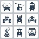 Vector transportation icons set — Stock Vector