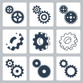 Vector gears, cogwheeels icons set — Cтоковый вектор
