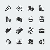 Vector food mini icons set 2 — Stock Vector