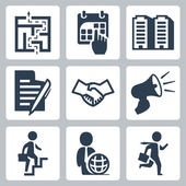 Vector business concept icons set — Stock Vector