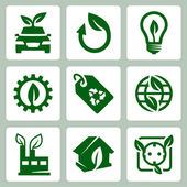Vector ecology icons set — 图库矢量图片