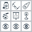 Vector optometry icons set — Stock Vector #44542933