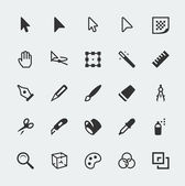 Vector graphic editor mini icons set — Stock Vector