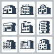 Buildings icons — Stock Vector #49274143