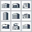 Buildings  icons — Stock Vector #49274183