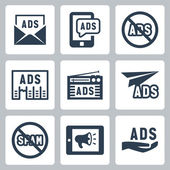 Advertisement icons — Stock Vector