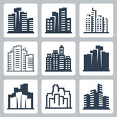 Cityscape icons — Stock Vector