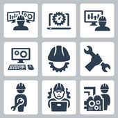 Engineering icons — Stock Vector