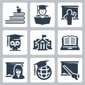 Higher education — Stock Vector