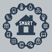 Smart house — Stock Vector