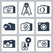 Photo cameras — Stock Vector