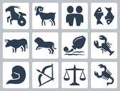 Znaki zodiaku. — Wektor stockowy