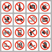 Prohibiting signs — Stock Vector