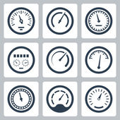 Meters icons — Stock Vector