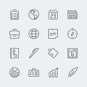 Business icons set — Stockvektor