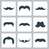 Icon of mustaches — Stock Vector