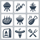 Grill and barbeque — Stock Vector