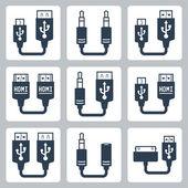 Adapter connectors — Stock Vector