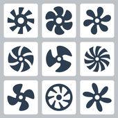Fan propellers — Stock Vector