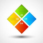 Vector ifographic template squares, options — Vector de stock
