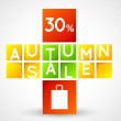 Autumn sale squares template — Stock Vector