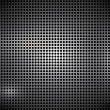 Abstract metal background black dots — Stock Vector