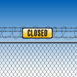 Fence with tag closed — Stock vektor