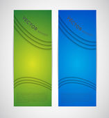 Abstract vertical vector banners with shadows and lines — Stock Vector