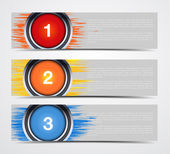 Abstract banners with buttons — Stock Vector