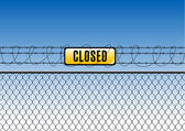 Fence with tag closed — Stockvektor