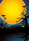 Abstracte halloween achtergrond — Stockvector