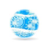 Abstract blue christmas sphere — 图库矢量图片