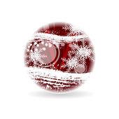 Streszczenie czerwony boże narodzenie kula — Wektor stockowy