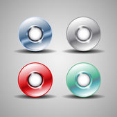 Abstract circle steel colorful buttons — Stock Vector