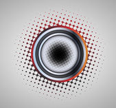 Abstract background with circle sign with halftone effect — Stock Vector