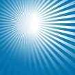 Stock Vector: Abstract blue background with sun rays