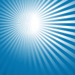 Abstract blue background with sun rays — Stock Vector