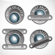 Collection of abstract silver badges, tags, sign — Stock Vector