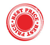 Abstract red stamp with word best price — ストックベクタ