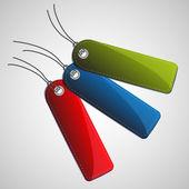 抽象的红、 蓝、 绿、 向量标记设计元素 — 图库矢量图片