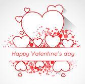 抽象的情人节明信片的心 — 图库矢量图片