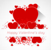Abstract valentine postcard with heart — Stock Vector