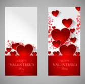 Abstract valentine banners with heart — Stock Vector
